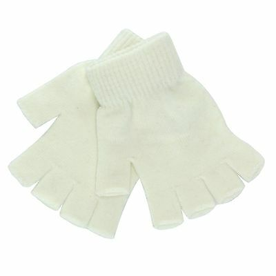 SO White Magic Fingerless Gloves for Girls - One Size