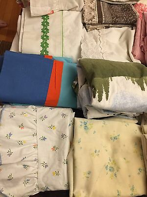 Vintage Lot Of 61 Bed Pillow Cases Pillowcases