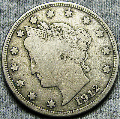 1912-D Liberty V Nickel  ---- NICE ---- #D544