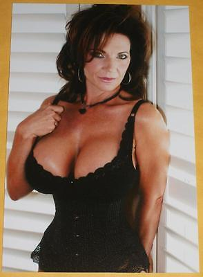 Porn Star Model Sexy BIG BOOBS Hot Crazy Girl Pinup Busty Wife 4x6 Photo L49