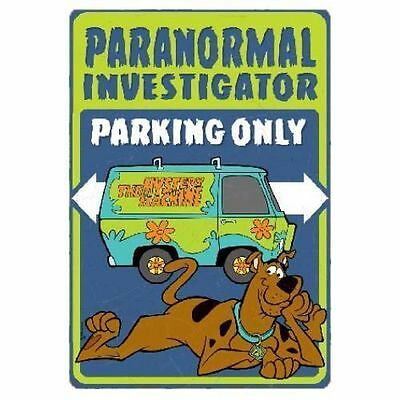 SCOOBY DOO metal Tin sign PARANORMAL INVESTIGATOR MYSTERY MACHINE vintage Last 1