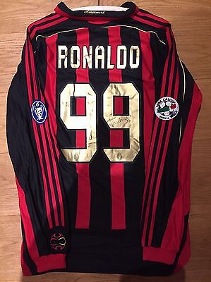 Milan Match Worn/issued Shirt/maglia Ronaldo Signed