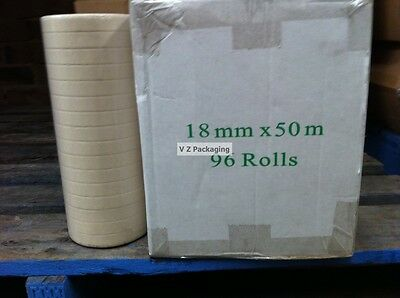 1 Roll 18mm x 50m Masking Tape Paint or Car Jobs General Purpose Non Sticky