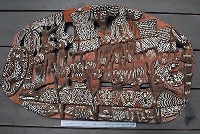Large old Papua New Guinea Story board