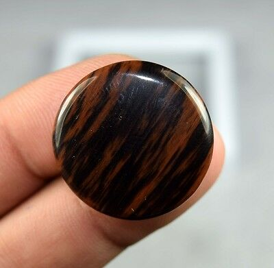 19.80 Cts. 100 % Natural Cute Mahogany Obsidian Round Cab For Pendant