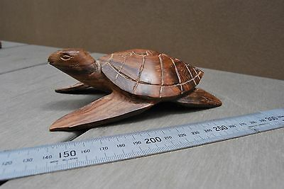 Old Papua New Guinea carved turtle tortiose