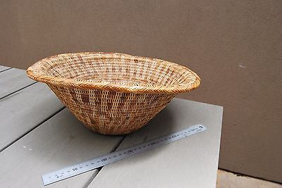 Nice old Papua New Guinea woven cane Buka basket bowl