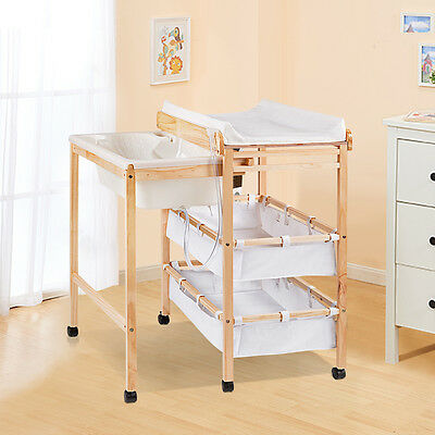 Baby Changer Changing Table Nursery Unit Storage Station Toddler Bath Tub Mat