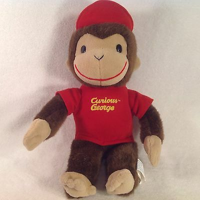 "Curious George Plush Monkey 12"" Vintage With Hat- Toy Network"