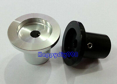 1 PC silvery solid aluminum volume potentiometer Knob for Guitar Effect 30X26mm