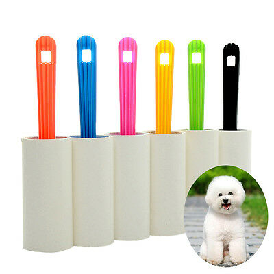 Pets Dog Cat Hair Removal Clothes Sticky Dust Remover Roller Brush Cleaner Tool