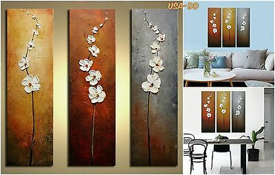 Original Framed Art Flowers Stretched Oil Painting Canvas Wall Decor Home Office