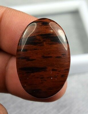 24.45 Cts. 100 % Natural Cute Mahogany Obsidian Oval Cab For Pendant