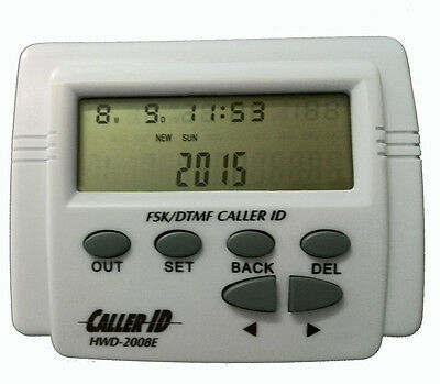 Hot DTMF FSK Caller ID Box + Cable for Mobile Telephone Adjustable LCD Screen