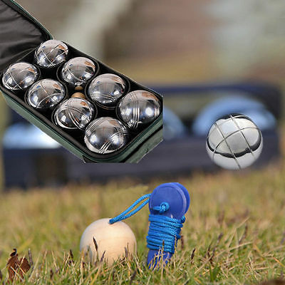 New Steel French Boules Set Petanque Balls Outdoor Garden Game Free Carry 8Ps Uk