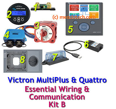 Victron Multiplus Quattro Essential Wiring and Communication Kit B