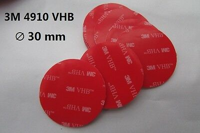 3M VHB #4910 Round Double-sided Acrylic Foam Tape ( diameter: 30mm and 50mm )