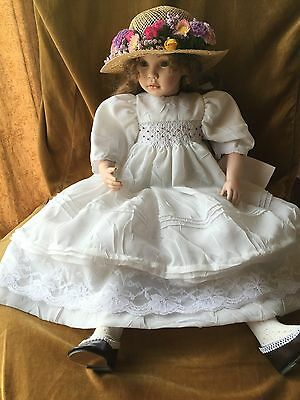 PAULINE'S© Limited Edition PORCELAIN DOLL Mikayla Excellent Rare W/Tags -NO BOX-