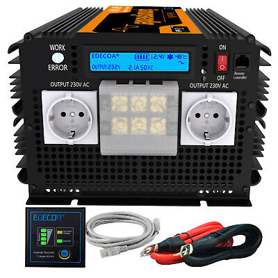 Convertisseur 3500W 7000W 12V 220V Inverter Pure Sine Wave onduleur LCD Display