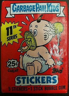 VINTAGE GARBAGE PAIL KIDS / GANG 11th 1987 UNOPENED WAX PACK TRADING CARDS RARE!