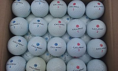 52 balles de golf Callaway Point Bleu Pt Rouge -  Etat correct