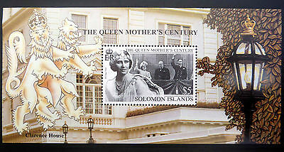 SOLOMON ISLANDS Wholesale $5 Queen Mothers 100th Birthday M/Sheet x 50  FP1069
