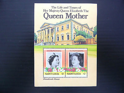 St LUCIA Wholesale 1986 Queen Mother M/Sheet x 100 U/M NEW LOWER PRICE FP1203