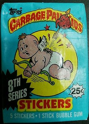 VINTAGE GARBAGE PAIL KIDS / GANG 8th 1987 UNOPENED WAX PACK TRADING CARDS RARE!