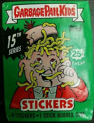 VINTAGE GARBAGE PAIL KIDS / GANG 15th 1988 UNOPENED WAX PACK TRADING CARDS RARE!