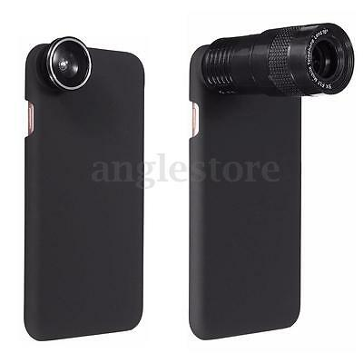 9X Telephoto Wide-angle Macro Fisheye Lens Kit Case Cover For iPhone 7 8 7 Plus