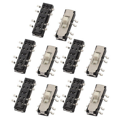 10 Pcs 3 Position SMT 8P 2P3T Micro Slide Switch Latching Toggle Switch