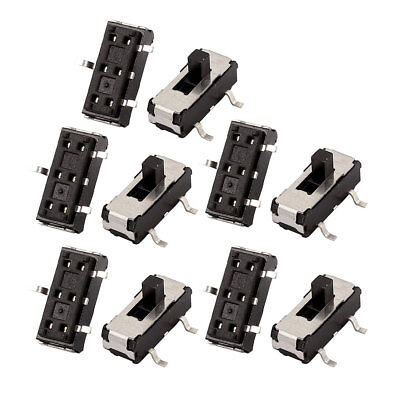 10 Pcs 2 Position SMT 3P SPDT Micro Slide Switch Latching Toggle Switch