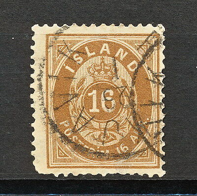 ICELAND 234 USED 1876 PERF 14 x 13 1/2