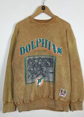 Miami Dolphins Sweater / Large / 90's / Nutmeg / Original / Made In USA