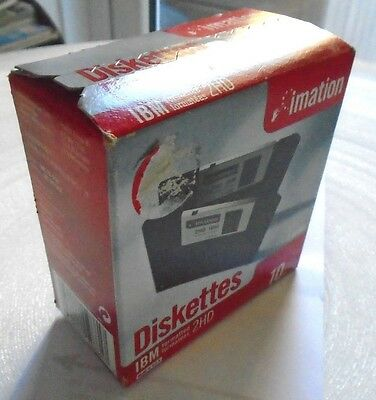 10 Imation Floppy Diskettes IBM formatted 1.44mb Boxed and Sealed