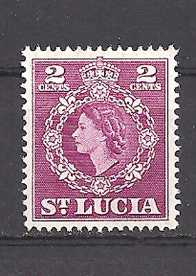 St. Lucia , 1953/54 , Queen Elizabeth Ii , Stamp , Perf , Vlh