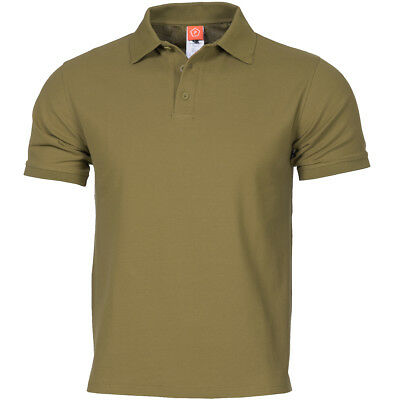 Pentagon Sierra Polo Shirt Army Tactical T-shirt Police Security Mens Top Black