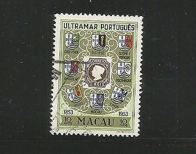 Macau 1954 10a Postage Stamp Centenary used as per scan