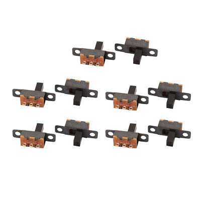 10Pcs 2 Position 3P SPDT Panel Mount Micro Slide Switch Latching Toggle Switch