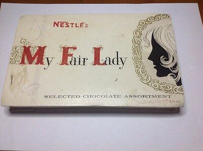 Vintage Nestles collectable advertising My Fair Lady chocolate confectionary box