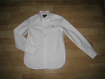 Ralph Lauren Girl's White Cotton Shirt.Size age 7 Years. In Excellent Condition!