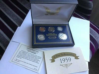 Coin Collection - A YEAR TO REMEMBER 1959 American Historic Society US COIN SET