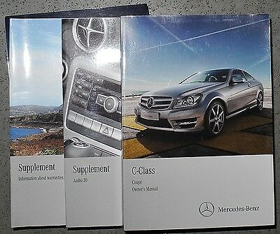 Mercedes C Class Coupe Handbook Owners Manual  2011-2015 Cars Print 2012 Ref5384
