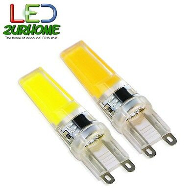 Dimmable G9 Cob LED Bulbs 12W to replace 50W Halogen Bulbs - UK Stock