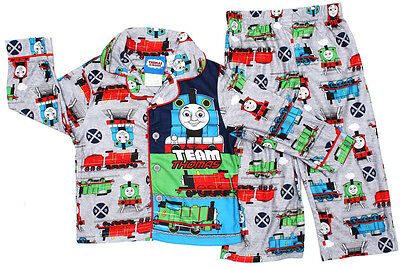 NEW Sz 2-4 FLANNELETTE PYJAMAS THOMAS BOYS WINTER SLEEPWEAR TOP T-SHIRTS PJ KIDS