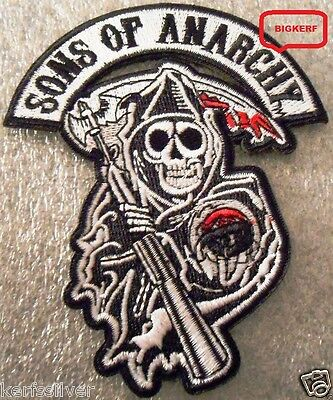 Grim Reaper  Son Of Anarchy  Embroidered  Biker Motorcycle Patch - Sew Or Iron