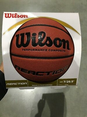 WILSON reaction indoor/outdoor composite leather basketball [size 7]