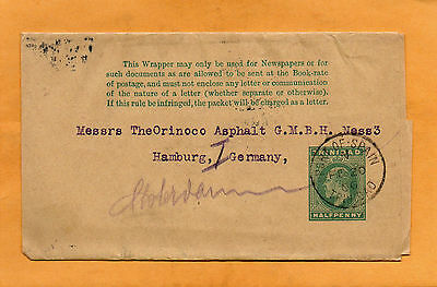 Trinidad BWI 1906 Newspaper Wrapper Mailed