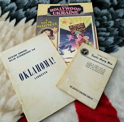 Lot VTG script song books 12 Angry Men Oklahoma A Night in the Ukraine