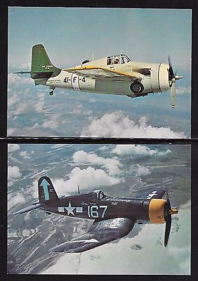 "U.s.a. Forces Aircraft Ww2;set Of 16 Postcards From""after The Battle"" Magazine."